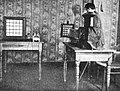 Ernst Ruhmer demonstrating simple television system (1909).jpg