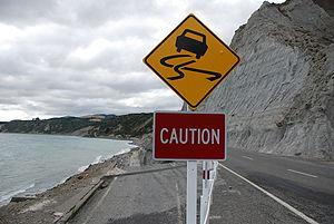 Eroded Road at Whatarangi Bluff, Palliser Bay.jpg