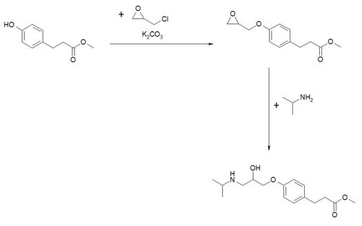 Synthese von Esmolol