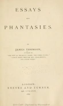 Essays and phantasies by James Thomson.djvu