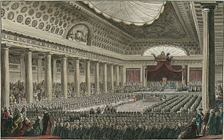 general assembly representing the French estates of the realm: the clergy (First Estate), the nobility (Second Estate), and the commoners (Third Estate). Summoned by King Louis XVI