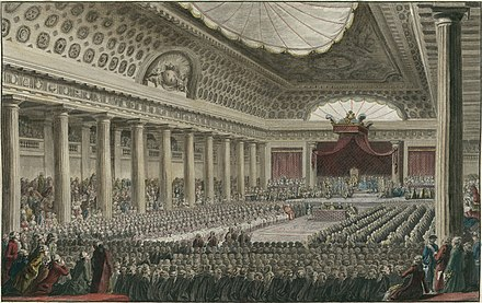 The meeting of the Estates General on 5 May 1789 at Versailles Estatesgeneral.jpg