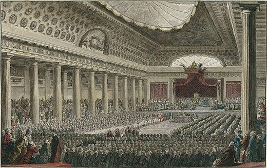 Ouverture des États généraux, à Versailles dans la salle des Menus  Plaisirs, le 5 mai 1789 - Vikidia, l'encyclopédie des 8-13 ans