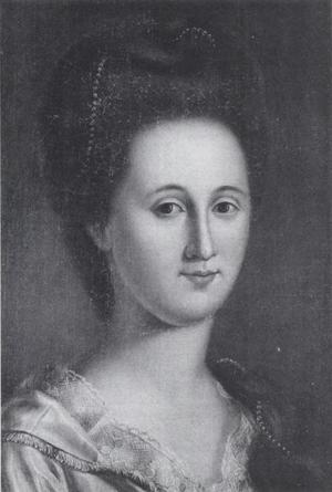 Esther de Berdt - Portrait of Esther de Berdt Reed by Charles Peale