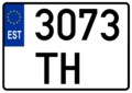 Estonian traktor license plate.png