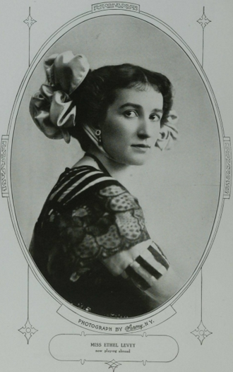 Ethel Levey - A portrait of Ethel Levey by Sarony, published in 1910.
