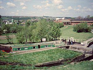 Etruria, Staffordshire -  Canal scene at Etruria