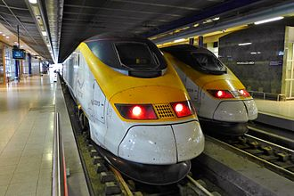 Belgium–United Kingdom relations - The Eurostar connects London and Brussels by train