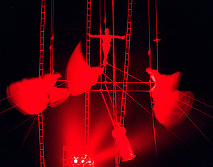 """The """"Chimes"""" aerial act that feature..."""