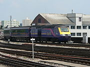 A FGW HST in the modified Barbie livery.