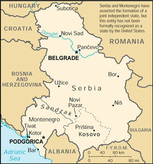 The World Factbook - Image: FR Yugo Map 2k