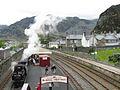 Fairlie narrow gauge Ffestiniog Railway loco at Blaenau Ffestiniog Station (7914339756).jpg