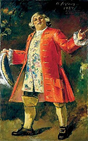 Der Rosenkavalier - 1927 portrait of Richard Mayr as Ochs by Anton Faistauer. Mayr sang this role 149 times in Vienna, Salzburg and London.