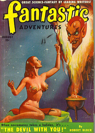 "Robert Bloch - Bloch's ""The Devil With You"" was the cover story in the July 1950 issue of Fantastic Adventures."