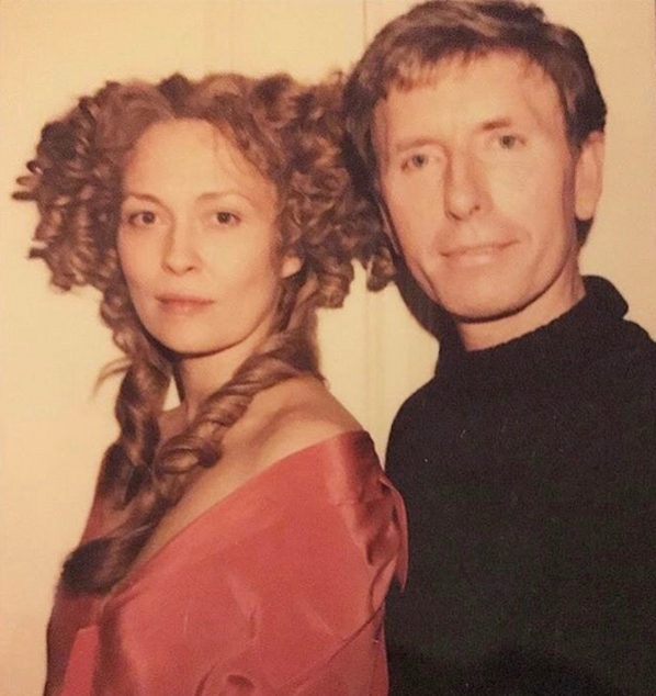 Faye Dunaway and Paul Huntley During A Wig Fitting For The Wicked Lady