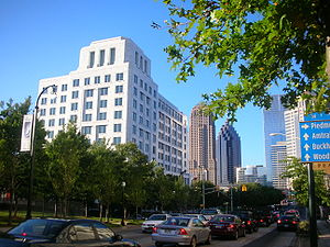 Economy of Atlanta - Federal Reserve Bank in Midtown Atlanta.