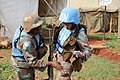 Female combat troops of South African Contingent in MONUSCO on robust foot and moblile patrols 14.jpg
