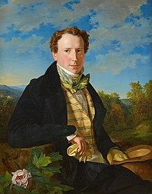 Ferdinand Georg Waldmüller: Selbstporträt in jungen Jahren, 1828, Belvedere, Wien (Quelle: Wikimedia)