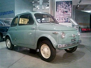 Fiat 500 - A Nuova 500, as it was launched in 1957, preserved in the Centro storico Fiat.