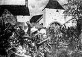 Fighting outside Ferme d'en-Haut, Ligny by Richard Knötel.jpeg