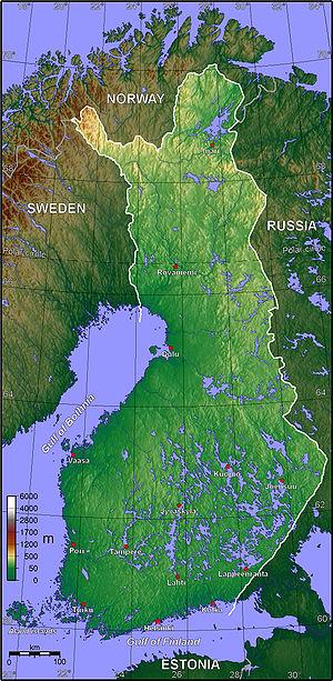 Finlands topografi