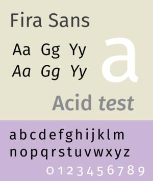 Fira Sans - Image: Fira Sans sample image