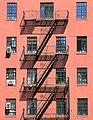 Fire escape, West 10th Street, Greenwich Village, NYC.jpg