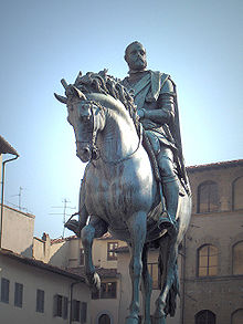 Statua equestre di Cosimo I, opera del Giambologna (Piazza della Signoria, Firenze)