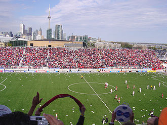 Maple Leaf Sports & Entertainment - Toronto FC scores their first goal at BMO Field in 2007 following their launch by MLSE