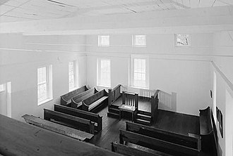 Old Brick Church (Fairfield County, South Carolina) - Interior of Old Brick Church from the slave gallery