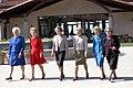 First Ladies Barbara Bush, Nancy Reagan, Rosalynn Carter, Betty Ford, Pat Nixon, and Lady Bird Johnson at the Dedication of the Ronald Reagan Presidential Library.jpg
