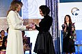 First Lady Melania Trump Presents the 2017 International Women of Courage Award to Natalia Ponce de Leon of Colombia (33593820901).jpg