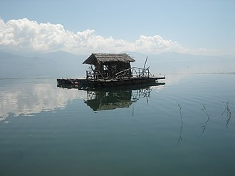 Lake Prespa - Image: Fishing at Lake Prespa
