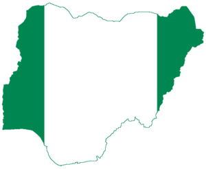 Flag-map of Nigeria