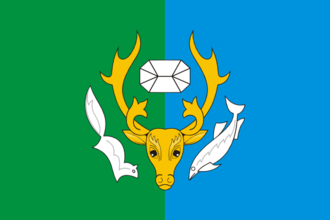 Priuralsky District - Image: Flag of Priuralsky rayon (Yamal Nenetsia)