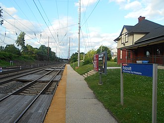 Folcroft station - Folcroft station in June 2014.