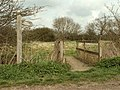 Footpath and footbridge on Stock Lane - geograph.org.uk - 753372.jpg