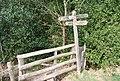 Footpath junction waymarker, Kemp's Wood - geograph.org.uk - 1252036.jpg
