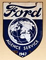 Ford Agence Service 1947, enamel advert sign at the den hartog ford museum pic-091.JPG
