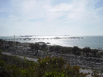 Fort De Soto Park - Fishing pier juts out into the Gulf of Mexico