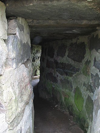 Battle of Groton Heights - The fort's reconstructed sally-port which is located on the south wall.