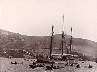 Nansen's Fram expedition - Fram leaves Bergen on 2 July 1893, bound for the Arctic Ocean
