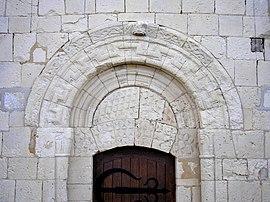The Doorway Of Church In Tessel