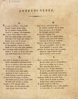 <i>A Wreath of Sonnets</i> poem written by France Prešeren