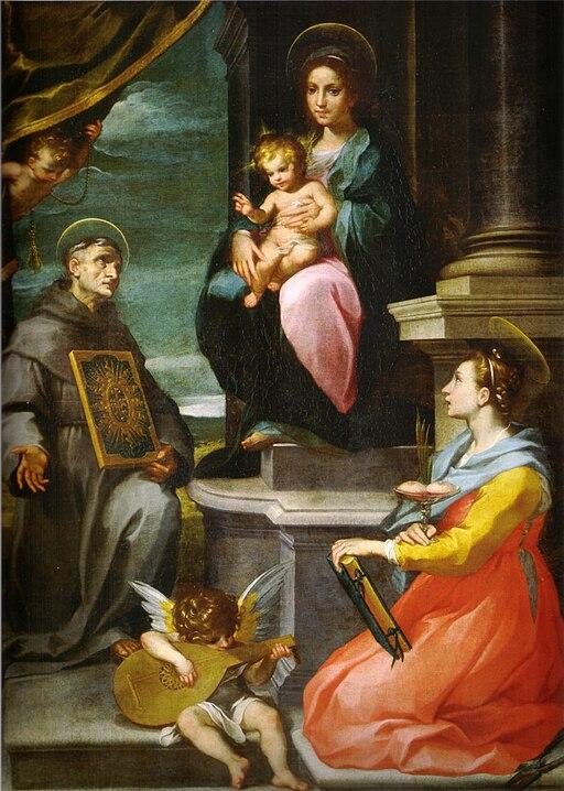 Francesco vanni, pala della collegiata di asciano, 1600