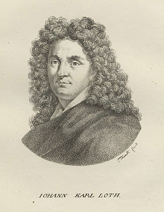 Johann Carl Loth - Johann Carl Loth, lithograph from the Deutsche Künstler-Gallerie by Maximilian Franck