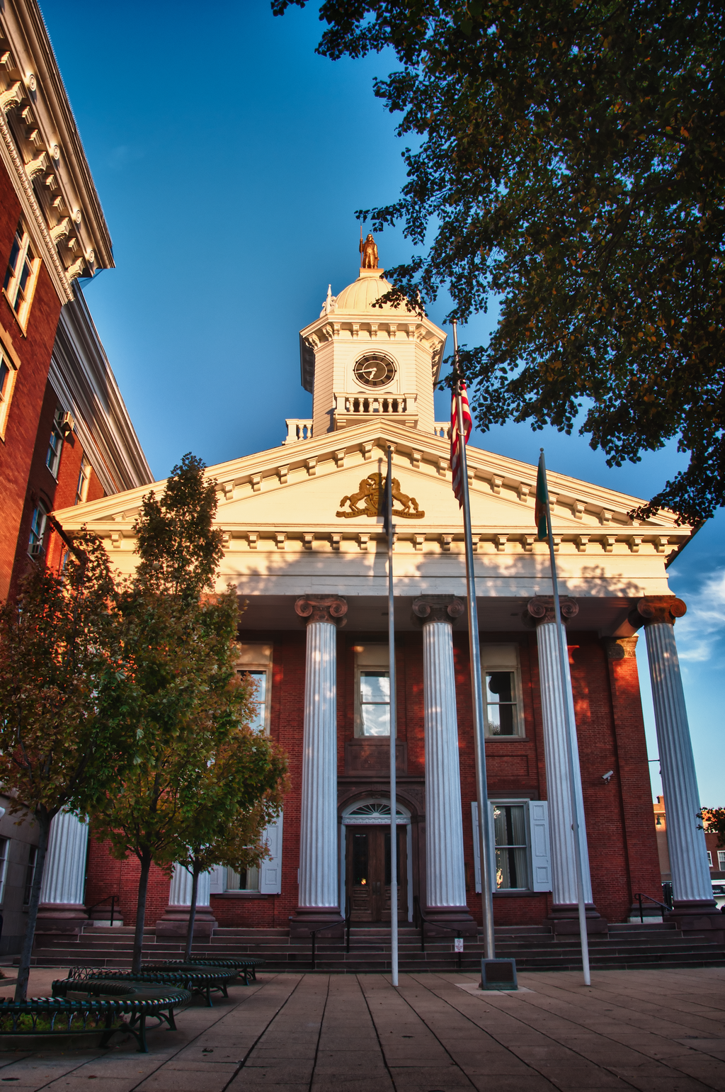 Franklin County Courthouse at Sunset