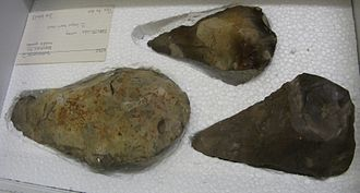 Swanscombe Heritage Park - Hand axes from Swanscombe at the British Museum found by Marston (not on display)