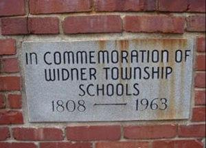 Freelandville, Indiana - Stone marker at the location of the Freelandville School