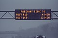Freeway Travel Time Sign - Minnesota Snow Storm Traffic (27911045329).jpg